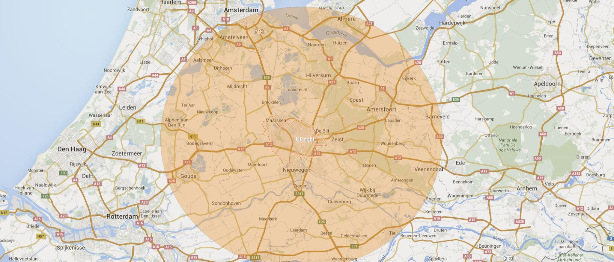 Werkgebied: provincie Utrecht en omstreken